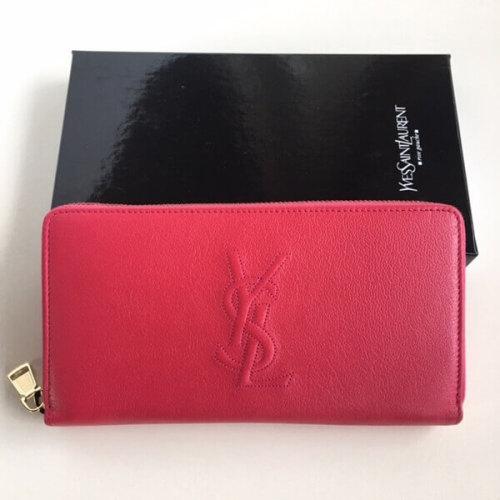 サンローラン 財布コピー ラウンドジップ長財布 ピンク YSL より大人気のロゴが型押しされたBDJコレクション