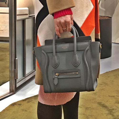 CELINE ハンドバッグ2018SS最新作 168243AQL 10KLラゲージナノ ライトグレーKOHL セリーヌコピー