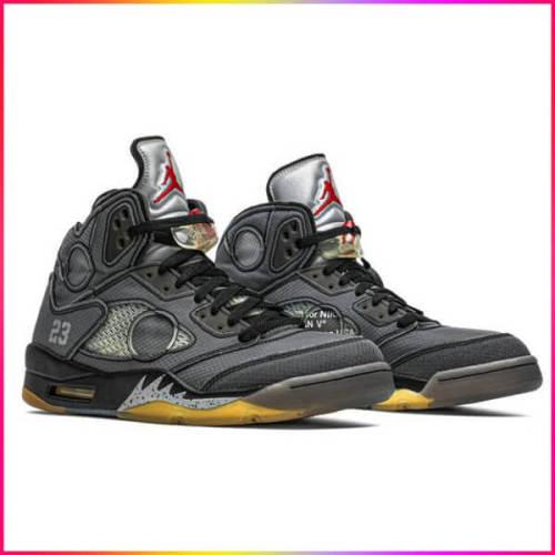 ナイキ スニーカー コピー Nike Jordan 5 Retro Off-White Black ジョーダン 3 レトロ CT8480-001