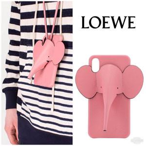 【LOEWE ロエベ iPhoneケース コピー】エレファント Elephant 水色 偽物 C719C80X01