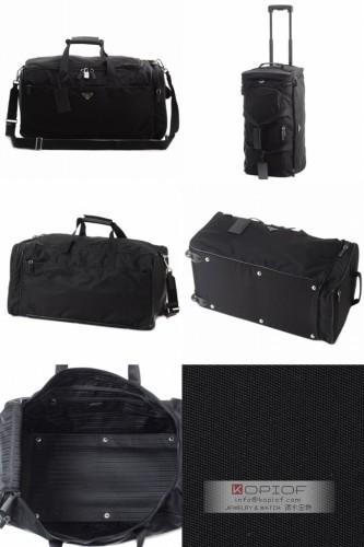 プラダ キャリー コピー2013春夏新作TES+SAFキャリー式ボストンバッグ VS185S TES+SAF NERO