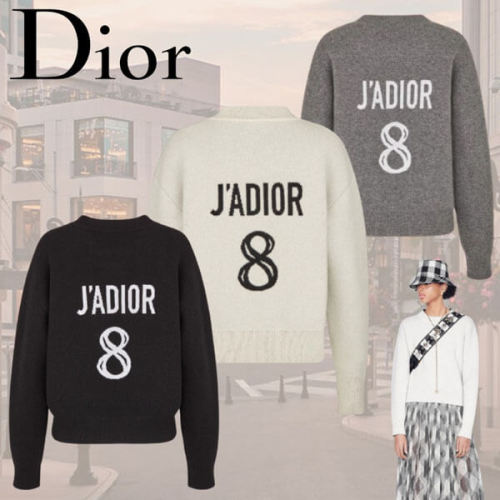 """日本未入荷☆Dior☆""""J'ADIOR 8""""ディオール コピー セーターカシミヤ Black 924S55AM009_X9330"""