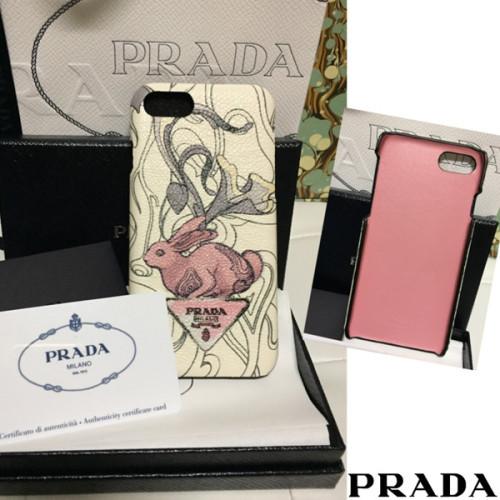 ウサギが プラダ iPhone6 iPhone7 iPhone8 スマホケース ラビット PRADA ラビットプリント 用ケース スーパーコピー