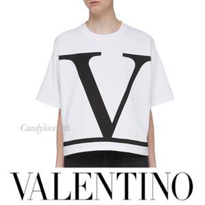 VALENTINO ヴァレンティノ Tシャツ コピー VALENTINO Vロゴ ジャージ Tシャツ SB3MG01Y4Q1A01