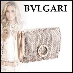 【BVLGARI】ミルキーオパール 三つ折り財布コピー