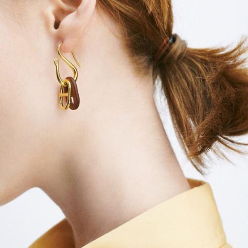【HERMES】スーパーコピー☆大人気☆ O'Maillon earrings オマイヨンピアス 4色