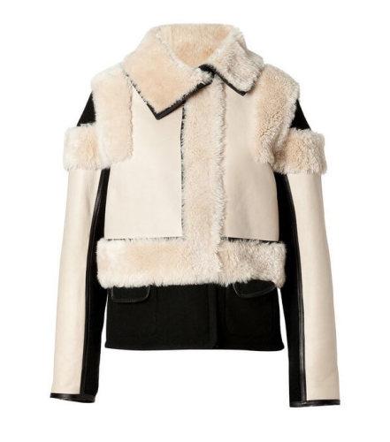 Chloe(クロエ)Lambskin Leather Zip Jacket in Natural クロエ 服 レディース スーパーコピー