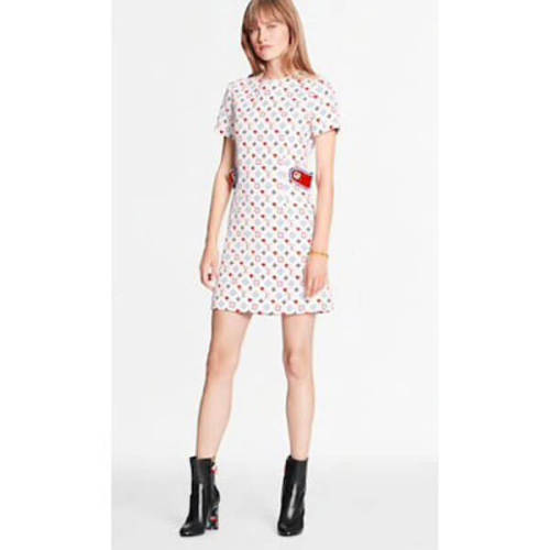 ルイヴィトン ゲームオン ドレス コピー【ヴィトン GAME ON】コントラストストレートカットドレス 1A8LW9