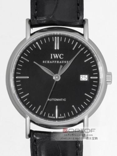 IWC スーパーコピーインターナショナルウォッチカンパニー ポートフィノ オートマティック IW356308 ブラック皮 ブラック