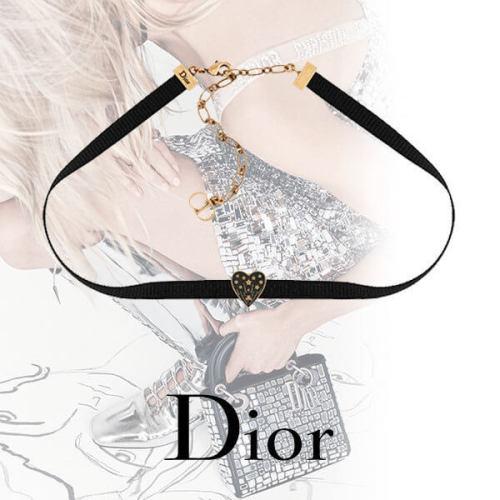 ディオール チョーカー コピー Christian Dior アンティークメタル チョーカー