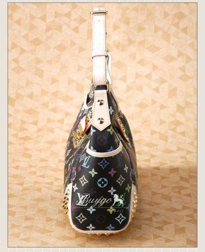 ルイヴィトン モノグラムマルチカラー スーパーコピールイヴィトン M40310モノグラムマルチカラー【クリッシーMM】ブラック/ゴールドスタッズがロックテイストなバッグ