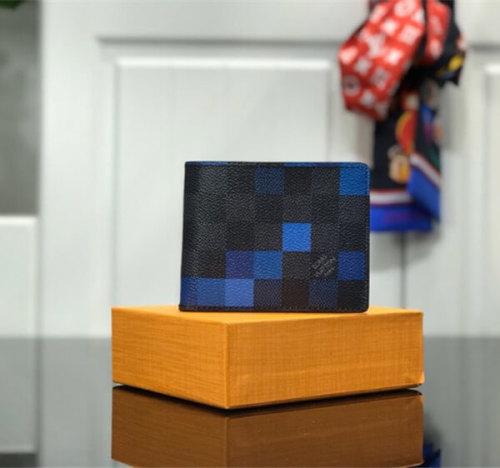 ルイヴィトン ポルトフォイユ スレンダー ダミエブルー 財布 N60180 ノート用コンパートメント