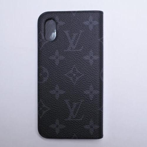 ルイヴィトン iPhone XS スマホケース コピー モノグラムエクリプス 携帯ケース フォリオ iPhone XS・フォリオ M63446