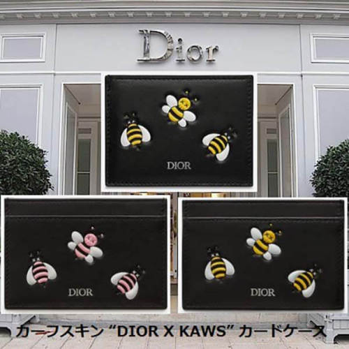 """ディオール カーフスキン """"DIOR X KAWS"""" カードケース 偽物 2KACH054YLA"""