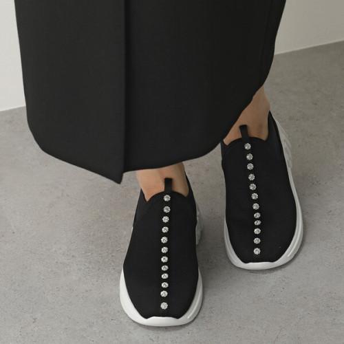 ミュウミュウ スニーカー コピー MIUMIU ローカット 5S887C 3K63 シューズ 靴 ブラック クリスタル