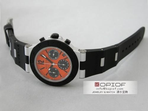 ブルガリ アルミニウム スーパーコピーAC38C8BTAVD/SLN AUTO クロノグラフ オレンジ/ブラック