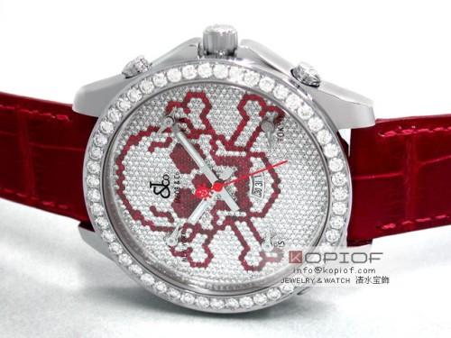 ジェイコブ ファイブタイムゾーン スーパーコピーJC-SKULLR 1重ベゼルダイヤ 47mm 全面ダイヤ