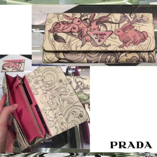 プラダ ウサギが prada 長財布 ラビット ピンク プラダ ウサギ 財布スーパーコピー