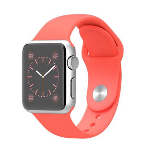 Apple Watch スーパーコピー38/42mmシルバーアルミニウムケースとピンクスポーツバンド