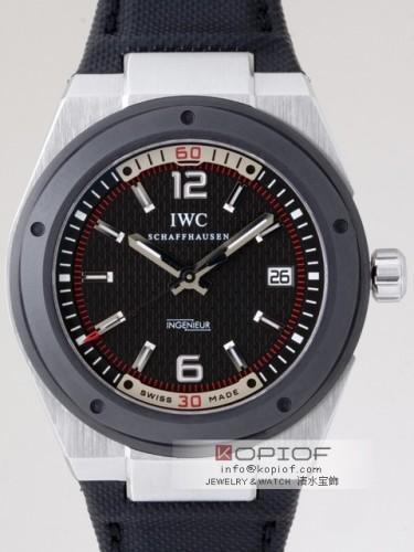 IWC インヂュニア スーパーコピーIW323401 SS/ソフト・ストラップ セラミックベゼル シースルーバック