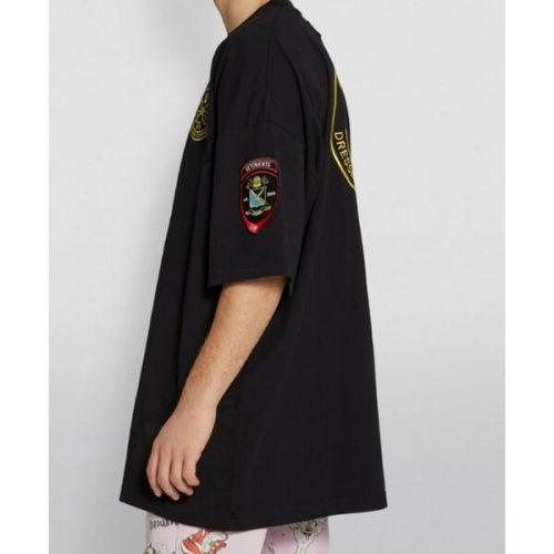 ヴェトモン tシャツ 偽物 ドレスメーカー オーバーサイズロゴTシャツ