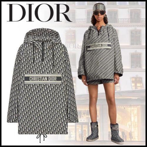 CR21Cruise 新作 Dior アノラック 偽物 ディオール オブリーク フーディー 117C10A2970