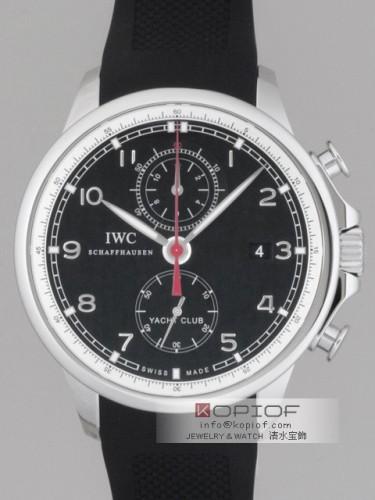 IWC ポルトギーゼ スーパーコピーIW390210 ヨットクラブ クロノグラフ ラバー 新型 ブラック