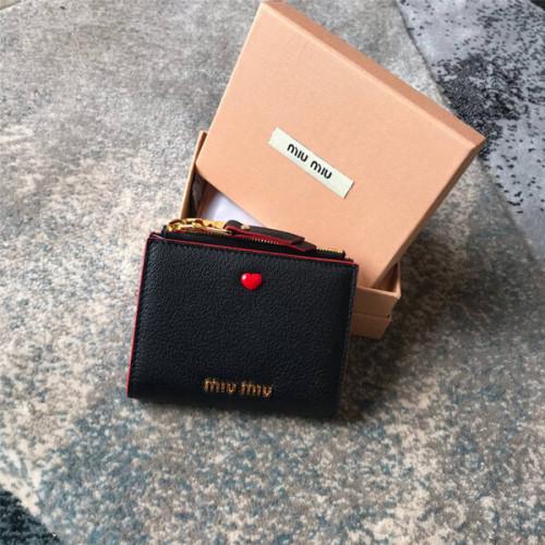 miumiu ラブレター 財布 コピー ハートが可愛い マドラスレザー 財布 Black 5ML0231