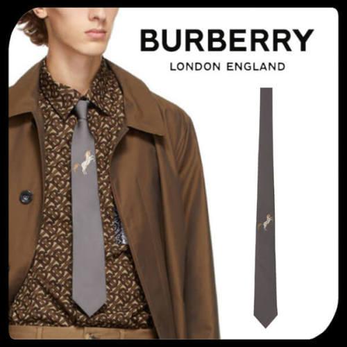 BURBERRY バーバリー 偽物 Horse Jacquard Silk Tie