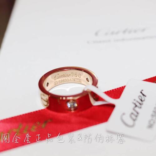 カルティエ リング コピー CARTIER 指輪 K18PG ダイヤ1p エングレーヴドB40874 新品