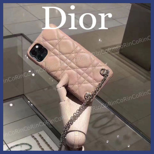 【入手困難】DIOR ディオール iphoneケース 偽物 LADY DIOR iPhoneケース チェーン付き S0742ONMJ_M59P