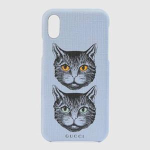 グッチ スマホケース コピー 猫 オンライン限定 ミスティックキャット iPhone X/XS ケース