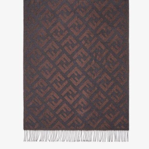 FENDI 20AW FFモチーフ シルク & ビスコース スカーフ 偽物*2色 FXT323AEOUF0QD1