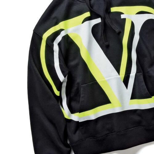 VALENTINO 2020SS 雑誌掲載 ヴァレンティノ パーカー コピー フーディ ロゴ ブラック