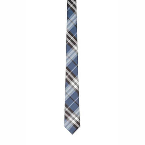 【BURBERRY】ネクタイコピー ブルー チェック シルクジャカード ネクタイ