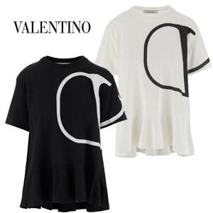 【VALENTINO】ヴァレンティノ ロゴTシャツ コピー◆VLOGO PRINT T-SHIRT◆ロゴ半袖Tシャツ TB3MG03T5860NI