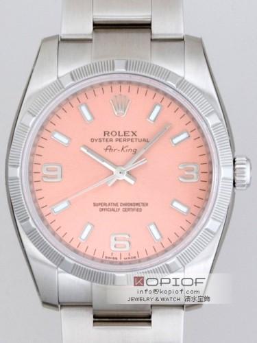 ロレックス エアーキング スーパーコピー114210 ピンク3・6・9アラビア