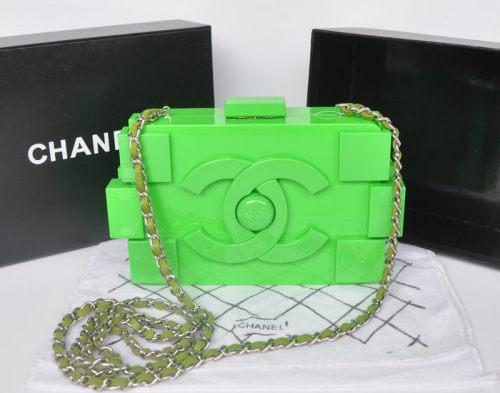 シャネル ハンドバッグ スーパーコピー2014春夏新作新品 Lego Clutch ハンドバッグA37013緑だ