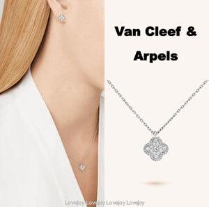 ヴァン クリーフ&アーペル Sweet Alhambra ホワイトゴールド ダイヤ偽物 VCARO85900
