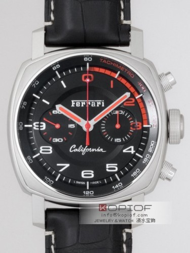 パネライ フェラーリ スーパーコピーカリフォルニア クロノ フライバック FER00030 45mm 世界限定300本 ブラック