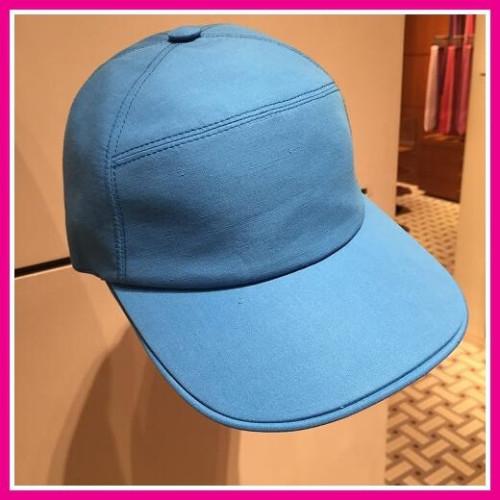 エルメス帽子コピー ベースボールキャップ コットン ブルー系