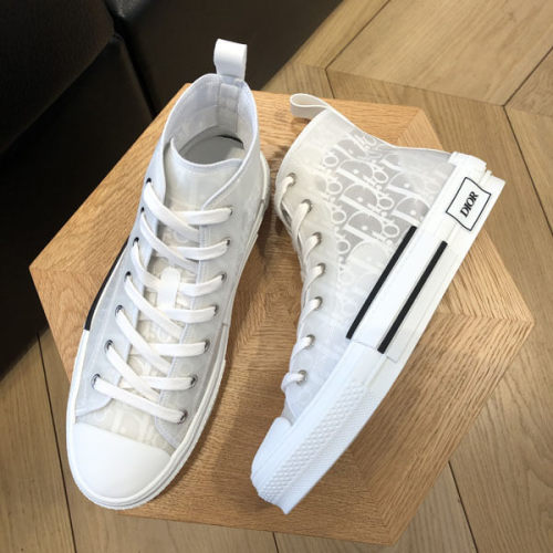 "【Dior】2019/20AW新作 ""B23""偽物 ハイカットスニーカー (White) 3SH118YNT_H060"