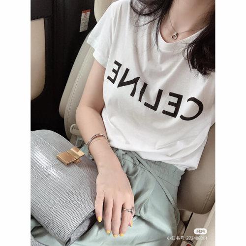 CELINE セリーヌ tシャツ 偽物 フロントロゴ 2X314916G38AW