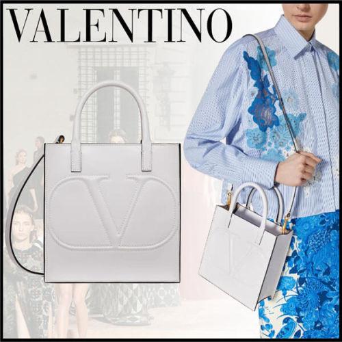 【VALENTINO】VLOGOスーパーコピー WALKスモールショッピングバッグ 2way /2色