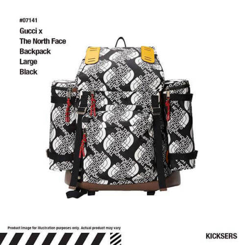 2021 コラボ グッチ ノースフェイス ロゴ バックパック コピー
