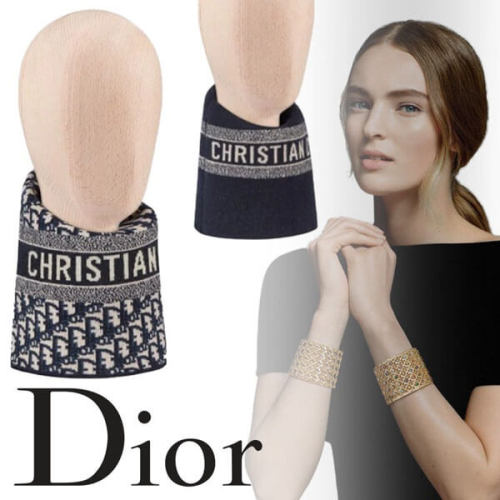 Dior 偽物 ネックウォーマー ディオール オブリーク ウール&カシミア 05CDO415I172_C540