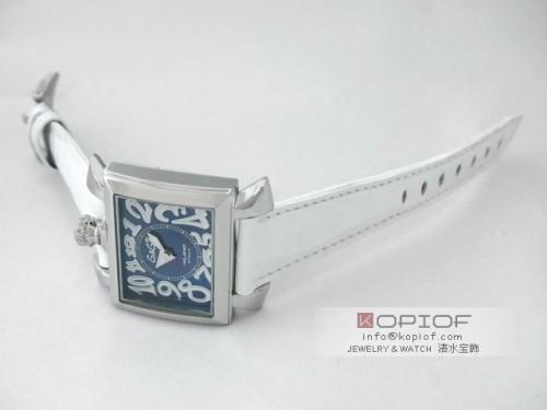 ガガミラノ ナポレオン40MM スーパーコピークォーツ 6030.4 ホワイト皮 ブラックシェル/ホワイトアラビア