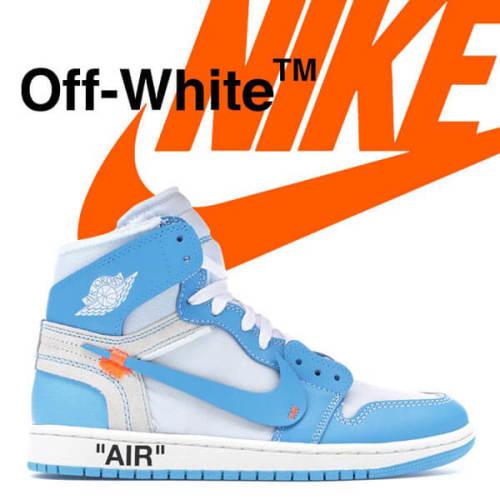 2020新作大人気 Nike ジョーダン オフホワイト パーカー 偽物 コラボス ナイキJordan 1 Retro High Off-White University BlueAQ0818-1481