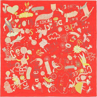 エルメス スカーフ コピー140x140cm カレ140Les Confessions H342959S 07パリから ストール