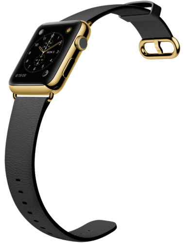 Apple Watch スーパーコピー42mm 18Kイエローゴールドケースとブラッククラシックバックル